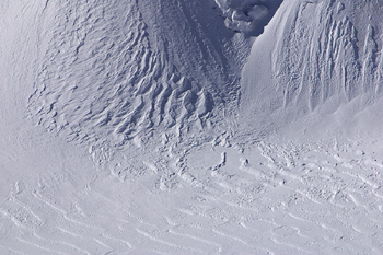 Texture of snow in the French Alps