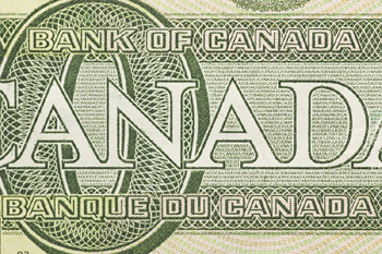 Close-up of Canadian cash