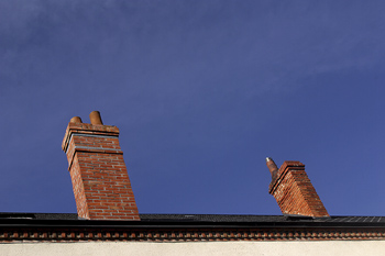 Chimneys on rooftop