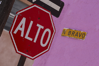 Stop sign in Mexico