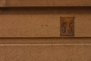 Number fifty-five on wall