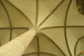 Decorative eaves in castle ceiling