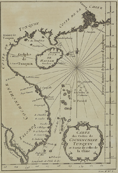 Antique map of Gulf of Tonkin