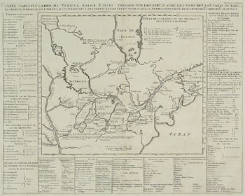 Antique map of part of North America from Atlas Historique