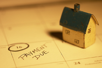 House payment due reminder on calendar
