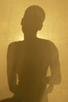 Silhouette of adult