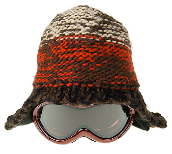 Stocking cap with goggles