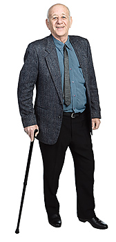 Man standing with cane