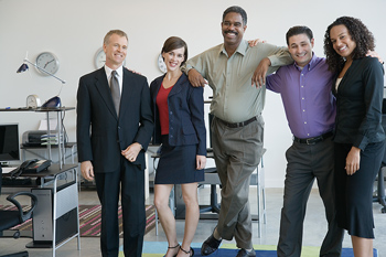 Group portrait of business team
