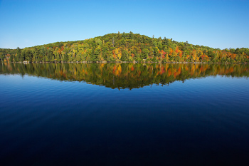 Scenic view of Meech Lake in Quebec, Canada