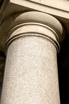 Detail of Tuscan order column and capital