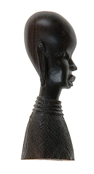 African carved wooden bust