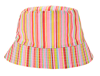 Colorful striped floppy hat