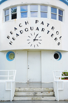 Exterior of front of building for Beach Patrol Headquarters in Miami, Florida