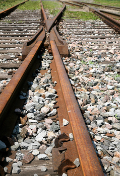 Switch in railroad tracks